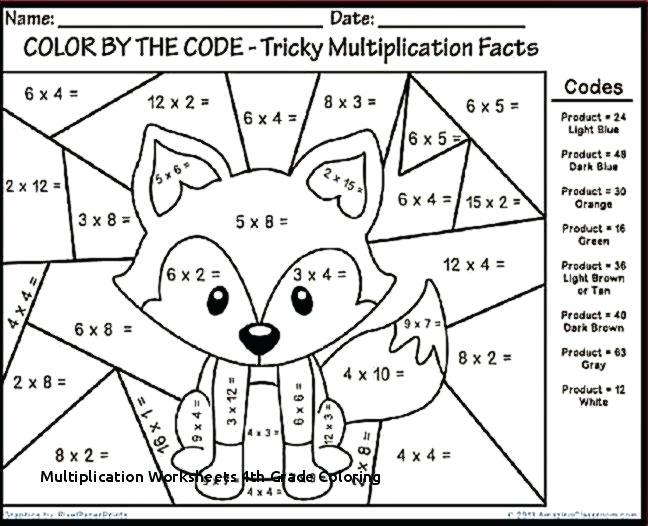 Multiplication Worksheets Grade Coloring Math Fun For 4 Of Mental