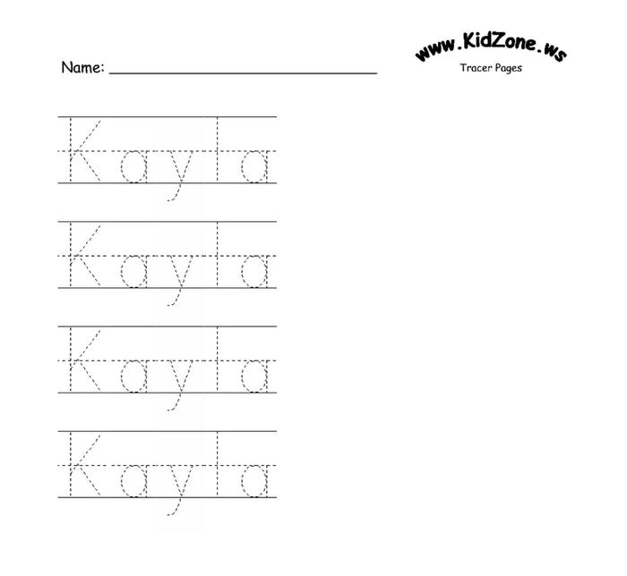 Name Tracing Templates Photo Album Website With Name Tracing