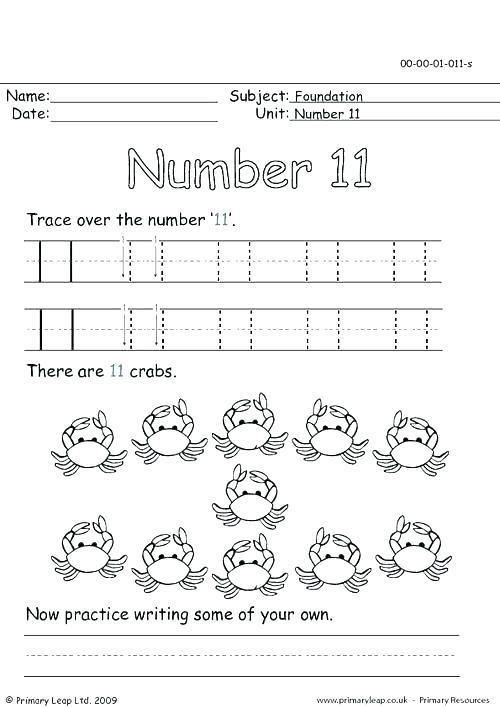 Numbers Worksheets 11 20 Esl Tracing Preschool Number Words For