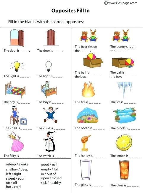 Opposites Worksheet Antonyms Worksheets Pdf For Grade 5 – Gongapp Co