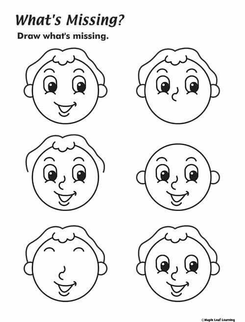 Parts Of The Face Worksheet For Kindergarten Parts Of The Face