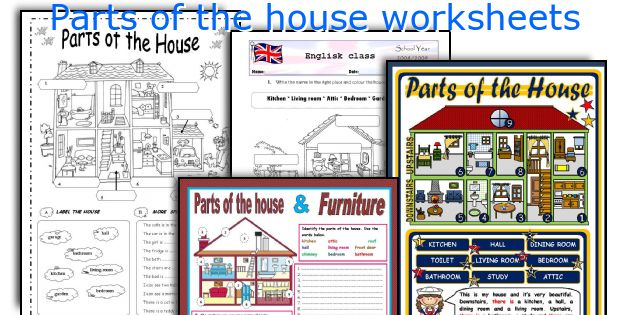 Parts Of The House Worksheets
