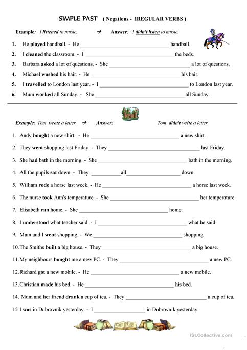 Every Great Esl Worksheets Past Tense Irregular Verbs Picture On