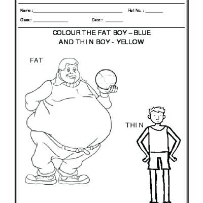 Perception Fat And Thin Free Kindergarten Education Perception Fat