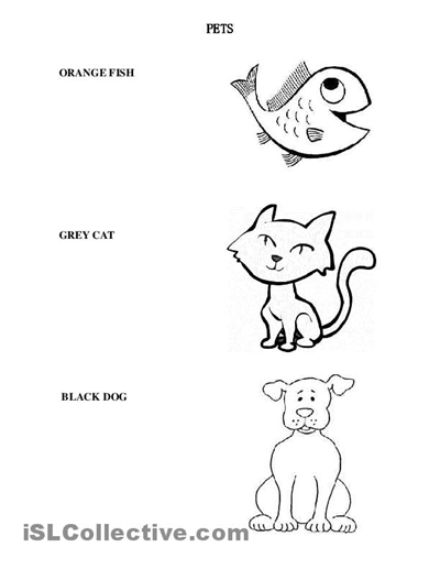 23 Free Download Pet Animals Worksheets For Kindergarten