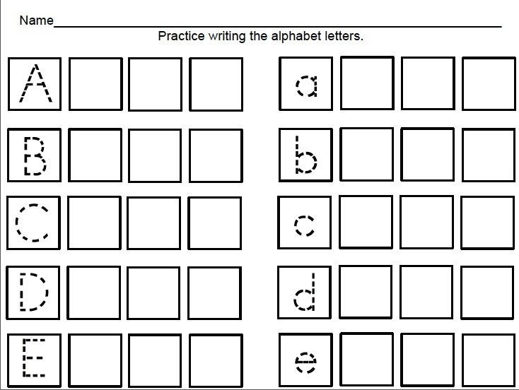Pre K Tracing Worksheets Alphabet Writing Worksheets For Pre K