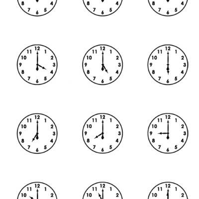 Clock Faces Worksheets