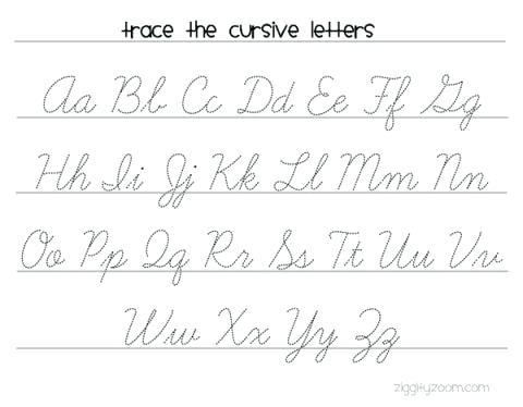 Cursive Writing Words Worksheets Printable – Newstalk Info