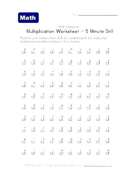 Problem Multiplication Timed Test 0 Problems A Worksheets Tests