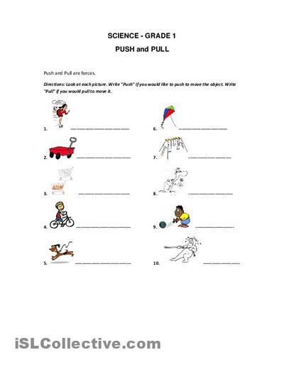 36 Push And Pull Worksheets For Kindergarten – Worksheet Template