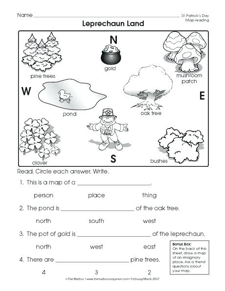 Reading A Map Worksheet Easy And Free To Click Print St Day Social