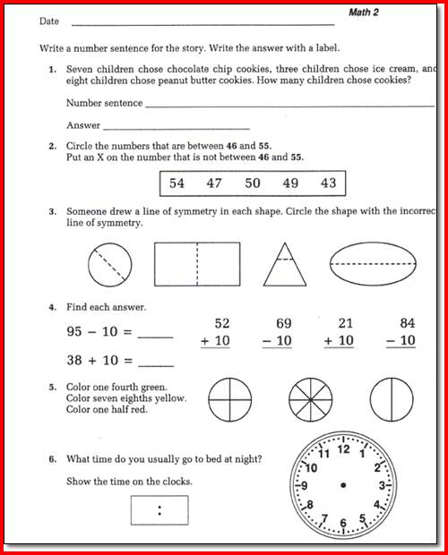 Saxon Math Worksheets 1st Grade Saxon Math Worksheets For 1st