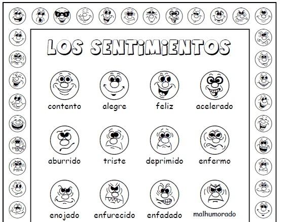 Sentimientos (feelings In Spanish) Activity Set
