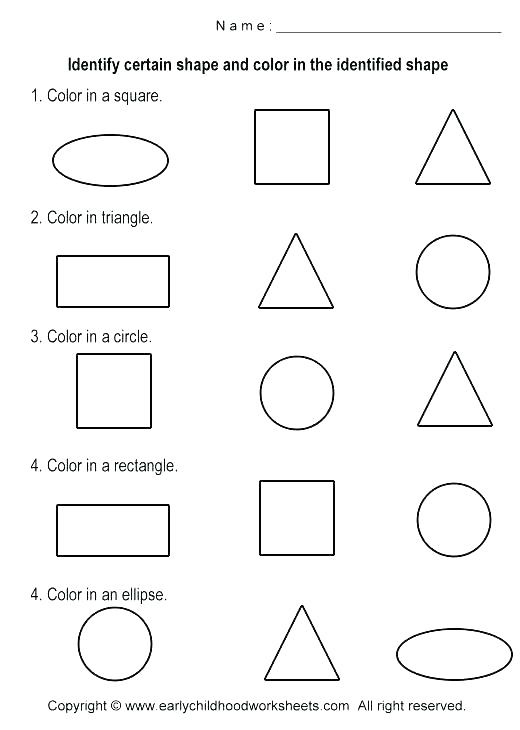 Shape Worksheets For 3 Year Olds Tracing Shapes Worksheets For 3