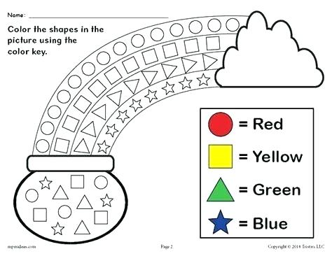 Shapes Coloring Worksheets Free Printable Preschool Pages St Day