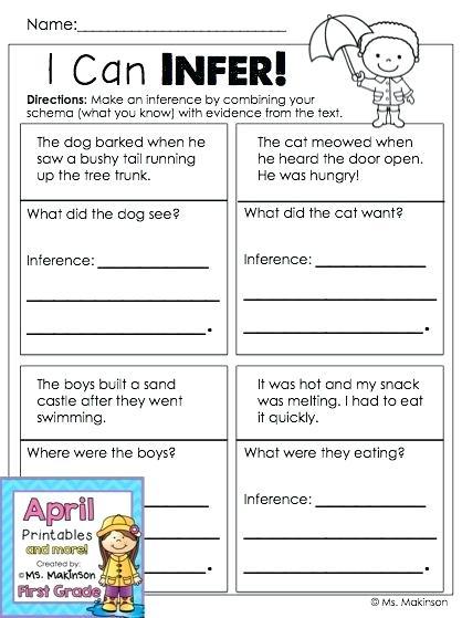 Similar Images For Making Inferences Worksheet Grade 2 1 Free