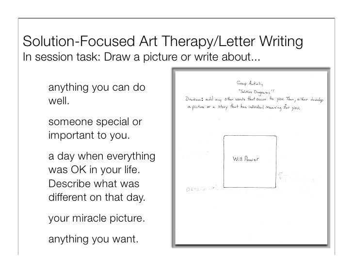 Solution Focused Therapy Worksheets