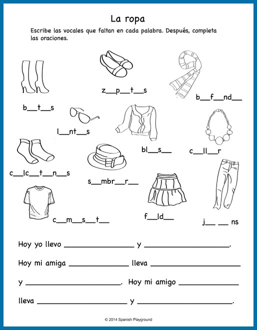 Spanish Clothing Songs For Kids