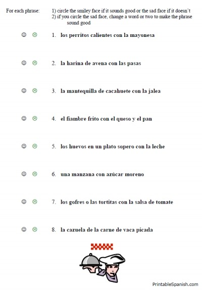 Printables  Basic Spanish Worksheets  Lemonlilyfestival Worksheets