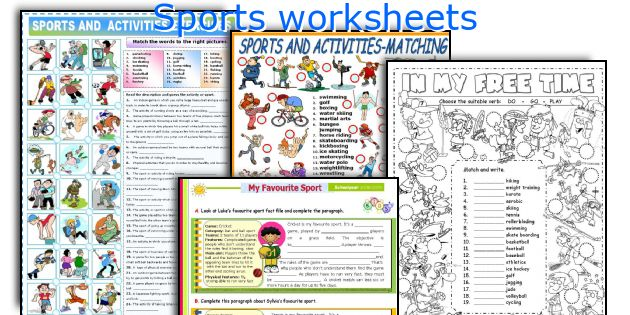 Sports Worksheets