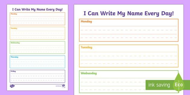 I Can Write My Name Handwriting Worksheet   Worksheet