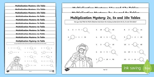 Multiplication Tables Missing Numbers Worksheet   Worksheet, Worksheet