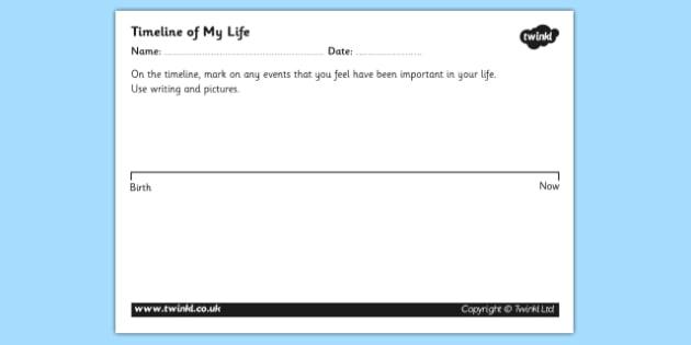 Personal Timeline Worksheets