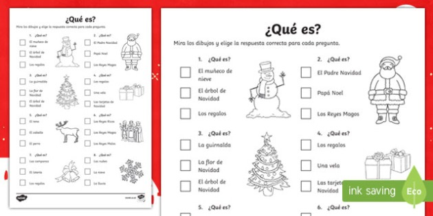 Christmas Quiz Worksheet   Worksheet Spanish