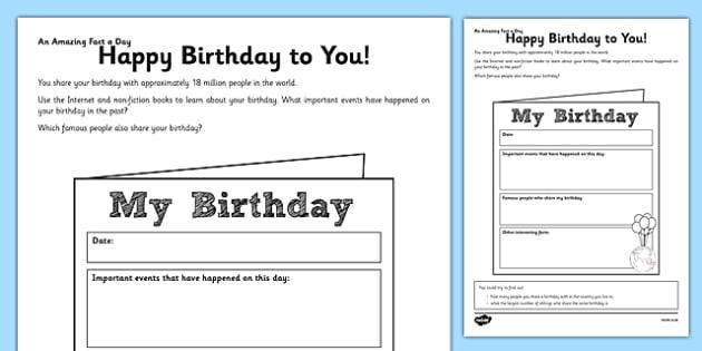 Happy Birthday To You Worksheet   Worksheet