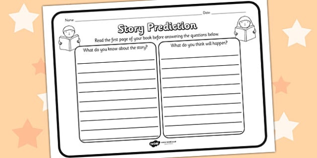 Story Prediction Reading Comprehension Worksheet