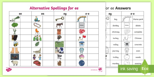 New   Alternative Spellings Ee, Ey And E