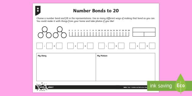 Mastering Bonds To Twenty Differentiated Worksheet   Worksheets