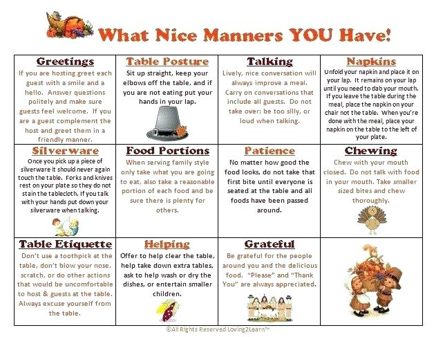 Table Manners Lesson Plan Preschool Table Manners For Kids
