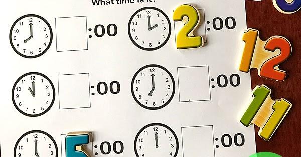 Telling Time Preschool Worksheets
