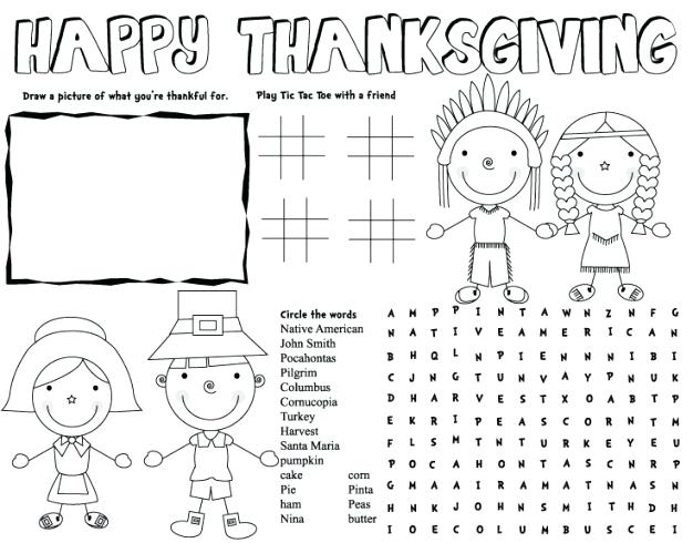 Thanksgiving Worksheets Pdf – Reynoldbot Com