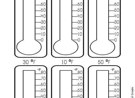 Thermometer Worksheets For Grade Temperature S 2nd – Newstalk Info