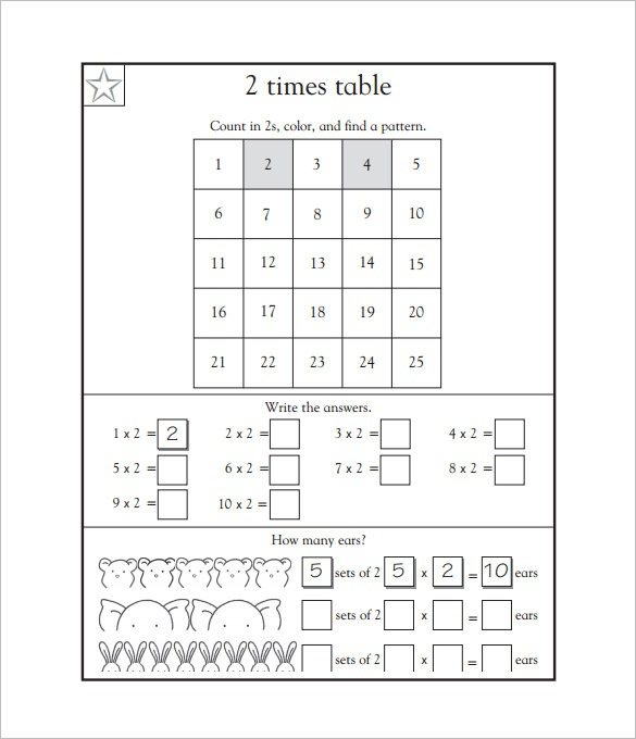 15+ Times Tables Worksheets – Free Pdf Documents Download