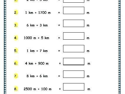 Unit Conversion Worksheet Pdf 4th Grade Measurement Worksheets