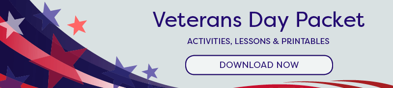 Veterans Day Printables & Lessons For Teachers, Grades K