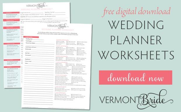 Wedding Planner Worksheet