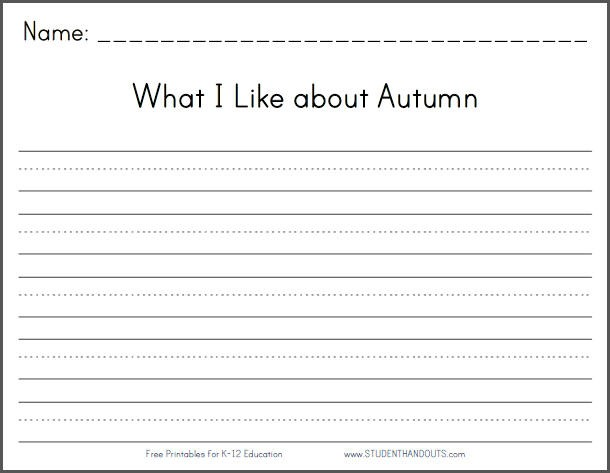 What I Like About Autumn
