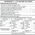 Income Tax Worksheets