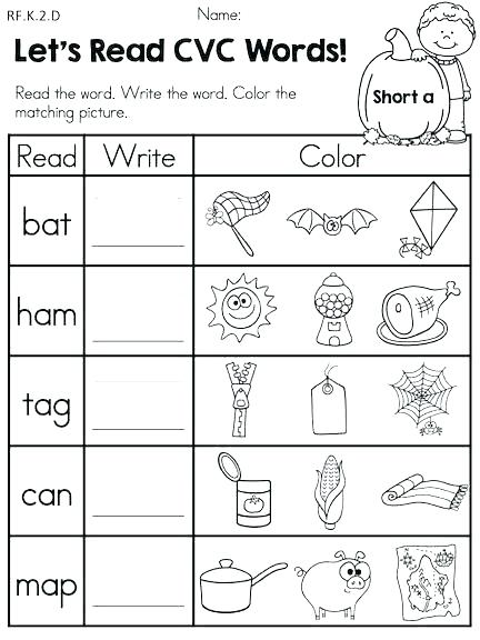 Kindergarten English Worksheets – Tagn