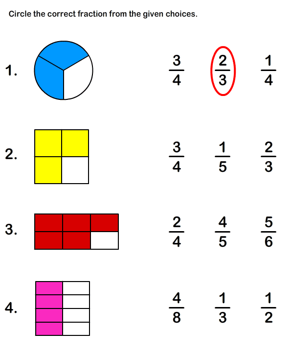 Year 3 Maths Worksheets Fractions Free Printable Fraction