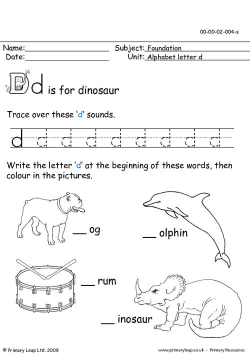 The Letter Dd