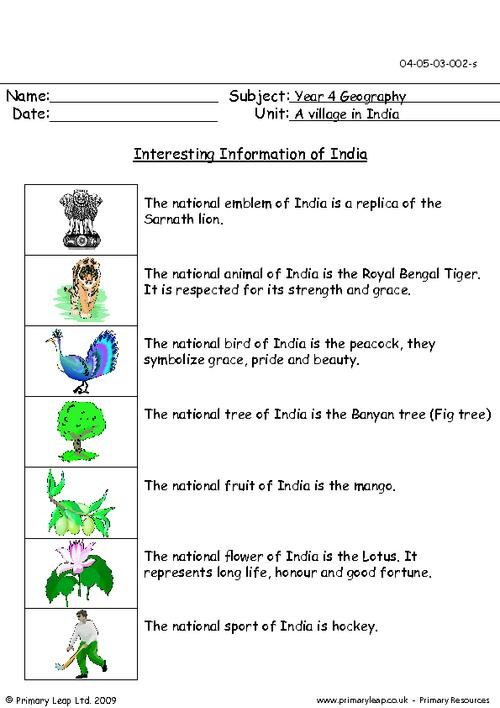 Interesting Information Of India
