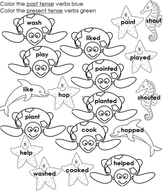 Regular Past Tense Verbs Ed Ending  The Coloring Part Will Help