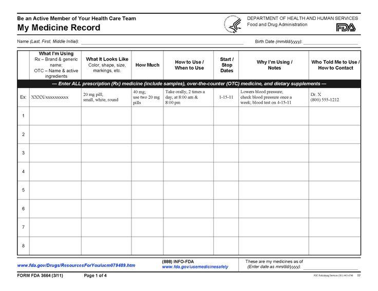 Printables  Medication Management Worksheets  Lemonlilyfestival