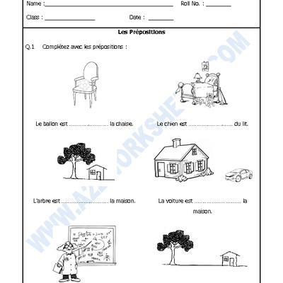 A2zworksheets  Worksheets Of French Practice Worksheets