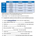 Pronoun Quiz Worksheets